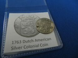 1763 Silver Early American Colonial Coin Before Us Minted Coins Free Shipping