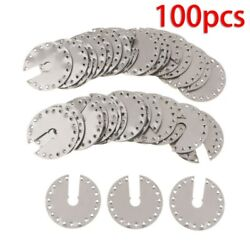 100 X Stainless Steel Solar Panel Pv Grounding Clip/washer/spacer 1.77x1.77
