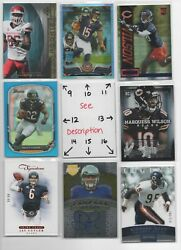 Chicago Bears 2 - Serial And039d - Rookies - Autos - Jerseys - U-pick Free Comb Sh