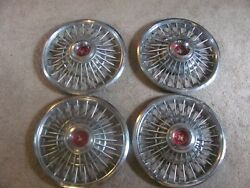 4 Vintage 1965 1966 1967 Ford Mustang Fairlane Spinner Hubcaps Wheel Covers