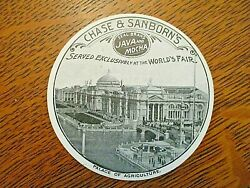 1893 Columbian Worlds Fair Trade Card-chase And Sanborn Disc-agriculture Palace