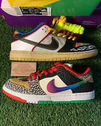 Nike Sb Dunk Low What The Paul's Ds Size 9 Men Og All W/ Receipt 100 Authenti