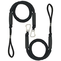 2pack Bungee Dock Line Boat Mooring Rope Cord Stretch Blue