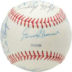 1990 Nl Team Signed Old Timers Cracker Jack Baseball With Mult Sigs - Bas A61759
