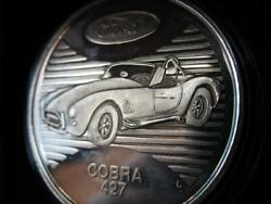 1 Oz .999 Silver Vintage Coin 427 High Performance Ford Cobra Classic + Gold