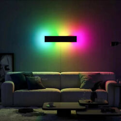 Modern Rgb Led Wall Lamp Deco Bedroom Resturant Dining Room Remote Control Light