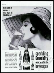 1961 Canada Dry Coffee Drink Bottle Vintage Print Ad