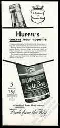 1935 Hupfel's Light Beer From Canada Dry Bottle Photo Vintage Print Ad