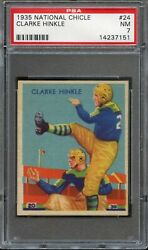 1935 National Chicle 24 Clarke Hinkle Rc Psa 7 Rare Green Bay Packers
