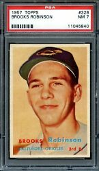 1957 Topps 328 Brooks Robinson Rc Psa 7 High End Centered Rookie