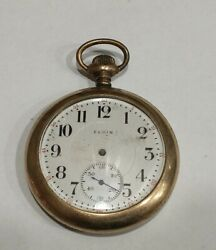 Elgin Pocket Watch Not Working For Parts Or Repair Only
