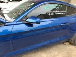Driver Left Front Door Electric Coupe Fits 15-17 Mustang Blue 933099