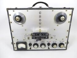 International Radio And Electronics Corp Crown Gcp Reel-to-reel Tube Tape Recorder