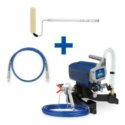 Magnum Airless Paint Sprayer Stand 4 Ft. Whip Hose Pressure Roller Kit