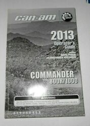 2013 Can Am Commander 800r 1000 Ownerand039s Manual Guide Sxs Utv 219000963 Can-am