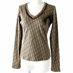 Christian Dior 5h16155940 V-neck With Ribbon Trotter Print Total Pattern Long
