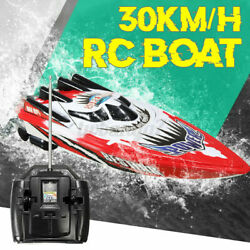 Rc Boat Remote Control 30km/h High Speed 2.4ghz Racing Gifts For Kids Adults