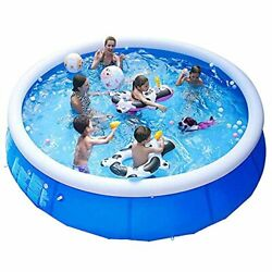 Family Inflatable Swimming Pool Above Ground Outdoor Backyard 12ft X 30in