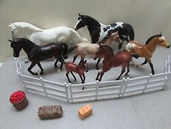 Vintage Corral Of Breyer Horses Ponies And Accessories Shown