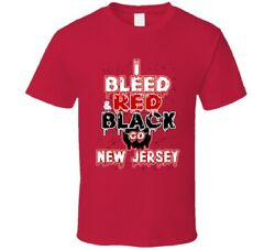 I Bleed Red And Black Go New Jersey Hockey Fan Gift T Shirt