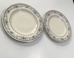 Minton Bone China Bellemeade Set Of 2 Salad And 2 Bread Plate Discontinued England