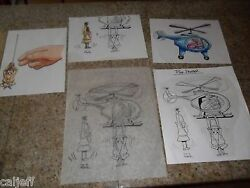 5 Lot Original Art Toy Burger King Pink Panther Helicopter And Inspector