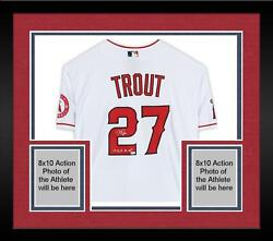 Frmd Mike Trout Angels Signed White Authentic Jersey And 14 16 19 Al Mvp Insc