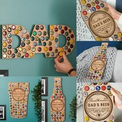 Beer Bottle Cap Holder Art Wall Pub Display Collection Den Bar Gift Father Day