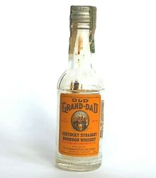 Vtg Old Grand Dad Miniature Bottle Kentucky Whiskey Maryland Tax Stamp Empty
