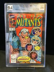 New Mutants 87 - First App. Of Cable Gorgeous Graded 9.4