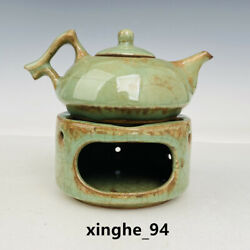 5.9 Old Antique Song Dynasty Long Quan Kiln Porcelain Wine Thermos Teapot