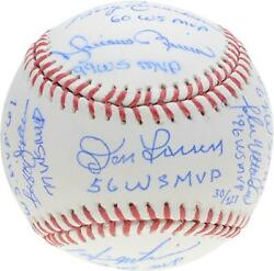 New York Yankees World Series Mvpand039s Signed Baseball And Multiple Inscs - Le 127