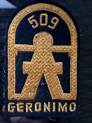 Original Wwii Allied 509th Parachute Infantry Regiment Pocket Patch Geronimo