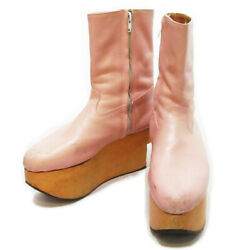 Vivienne Westwood Baby Pink Rocking Horse Boots Shoes 24-24.5cm