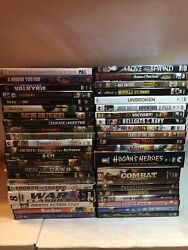 War / Military / Army Dvd Lot Of 42 Used Movies Mostly Ww2 Old And New Titles