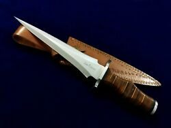 14 Seo Handmade 1095 Carbon Steel Dagger Blade Needle Point Hunting Bowie Knife