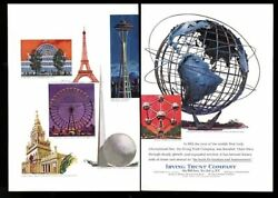 1964 New York World's Fair And Other Fairs Theme Irving Trust Vintage Print Ad