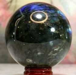 The Stone Of Transformation Large Labradorite Crystal Sphere Beads.of.babylon
