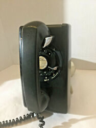 Vintage 1959 Black Northern Electric Rotary Dial Wall 593 Phone G1 Rare Find.