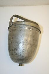 Wow Vintage Metal Industrial Dispenser Drain W/ Lid And Handle Unknown