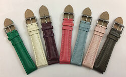 0 25/32in Bunten-reptil Leather Watches Bracelets Real Lizard In 7 Colour