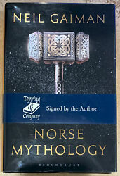 Autographed Norse Mythology Hc Book With Dj Signed By Neal Gaiman