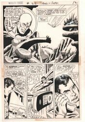 Worldand039s Finest Comics 213 P.10 / 12 - Atom And Superman - 1972 By Dick Dillin