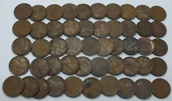Coin Roll 1927-d Lincoln Wheat Cent Penny - Denver Pennies Lot Collection Le139