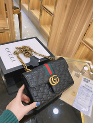Gucci GG Marmont Black Shoulder Bag with Tags and Box For Women Luxury $321.99