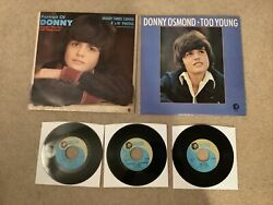 Donny Osmond The Osmonds Vinyl Record Album And 45 Rpm Lot Too Young Portrait More