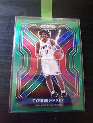 Fresh Pull 2020-2021 Green Panini Prizm Tyrese Maxey Rookie Card