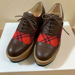 Vivienne Westwood Rocking Horse Womenand039s Shoes Brown Leather Plaid Eu36