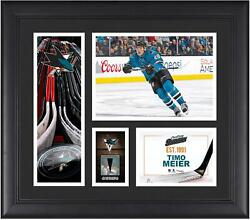Timo Meier San Jose Sharks Framed 15x17 Collage W/ A Piece Of Game-used Puck