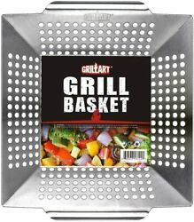 Grill Basket For Vegetables Meat Large Grill Wok Pan For The Whole Family Smoker